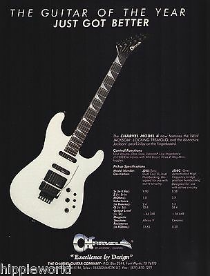 The Jackson Charvel Model 4 Guitar with Specs ad 8 x 11 advertisement print