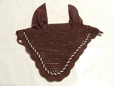 Brown Crochet Bonnet/Ear Net - Pony size Amidale