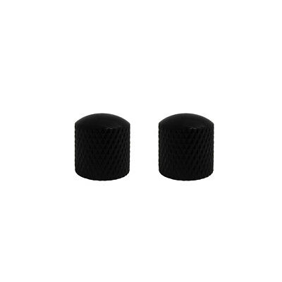 NEW 2pcs Electric Guitar Bass Control Knobs Dome Knobs Metal Black Color