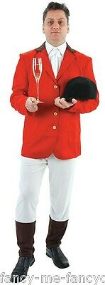 Mens Fox Hunter Rich Toff Snob Stag Do Villain  Fancy Dress Costume Outfit