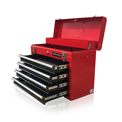 380 US Pro tools Portable Toolbox Tool Chest Box Cabinet Garage 4 drawers