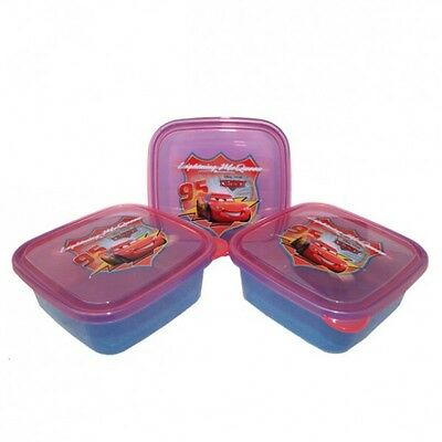 Disney Cars - Set of Cans - Snack Boxes - Square (3 pieces)