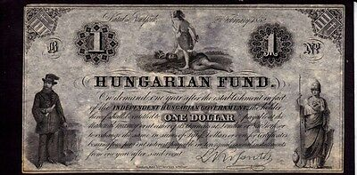 Hungary Banknote, 1 Dollar, 1852 Year