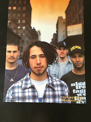"""RAGE AGAINST THE MACHINE RARE 80s GROUP IMPORT POSTER CLOSEUP COLOR 24""""X36""""NMINT"""