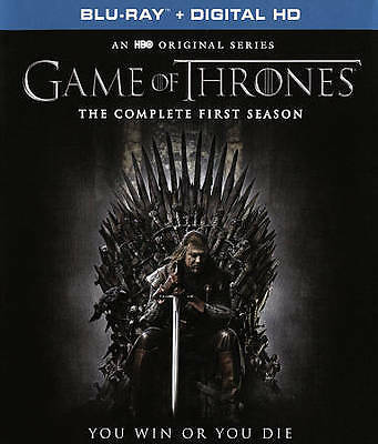 Game Of Thrones: The Complete First Season - 5 DISC SET (2016, Blu-ray New) 883