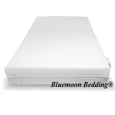ALL SIZES JUNIOR COT BED TODDLER FOAM MATTRESS QUILTED Zipped REMOVABLE COVER