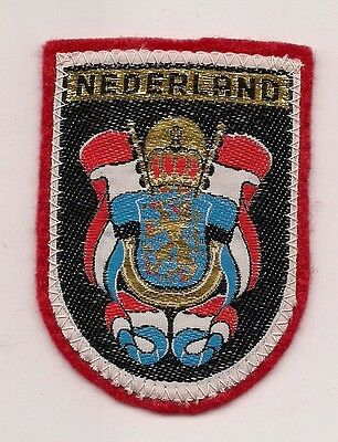 Souvenir Dutch  Patch - Country Of The Netherlands (Red)