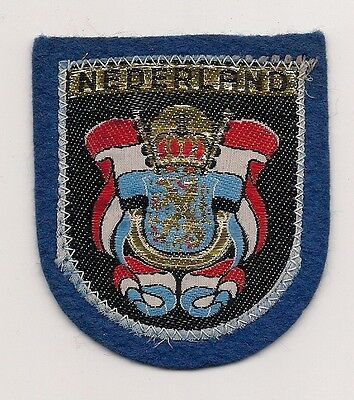 Souvenir Dutch  Patch - Country Of The Netherlands (Blue)