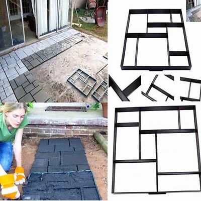 DIY Pavement Mold Patio Concrete Stepping Stone Brick Garden Path Paving Maker