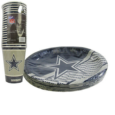 New NFL Dallas Cowboys 40 Disposable Paper Plates Cups Party-Ware Supplies  sc 1 st  PicClick : disposable paper plates - pezcame.com