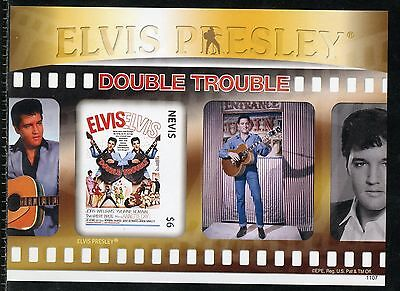 Nevis  Elvis Presley Double Trouble Imperforate Souvenir Sheet Iv  Mint Nh