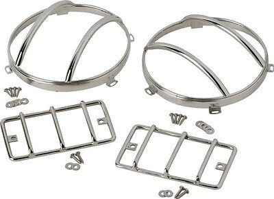 Euro Light Guard Set 4 pc Polished Stainless Jeep Wrangler TJ 1997-2006 30557