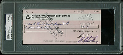 Ringo Starr The Beatles Authentic Signed 3.5x8 1973 Check PSA/DNA Slabbed