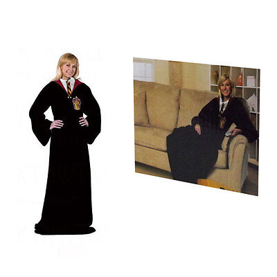 Brand New Harry Potter Comfy Large Soft Fleece Throw Blanket With Sleeves