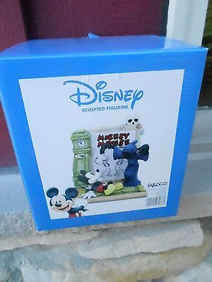 Disney Mickey Mouse & HAUNTED HOUSE Sculpted Figurine Enesco - NEW MIB (S16)