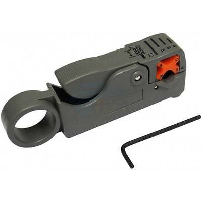 Coax Cable Cutter Wire Stripper Stripping Tool for RG6 RG59 RG5 TV Satellite