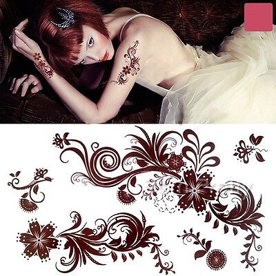 Blooming Paisley Mehndi Henna Art Mehendi Waterproof Temporary  Tattoo Decals