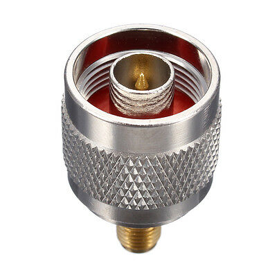 N-Type Male Jack to SMA Female Plug Center RF Coaxial Copper Connector Adapter