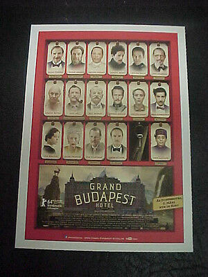 THE GRAND BUDAPEST HOTEL, film card [Ralph Fiennes, Saoirse Ronan]