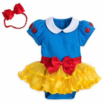 Disney Snow White Baby Costume Outfit & Headband Size 3 6 9 12 18 24 Months