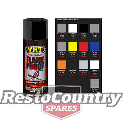 VHT High Temperature Spray Paint FLAMEPROOF FLAT BLACK. Exhaust engine flame pro