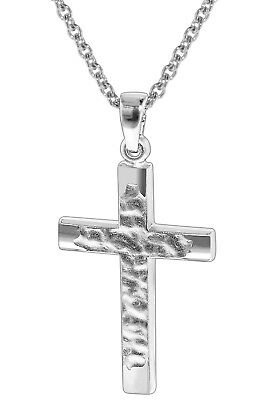 Trendor Jewellery Silver Necklace with Crucifix Pendant 35848