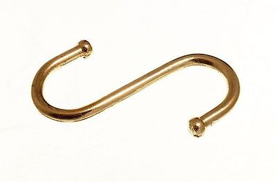 "NEW 10 3"" 75MM Copper S Hook Hooks Kitchen Clothes M2662"