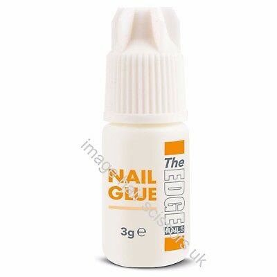 The Edge NAIL ADHESIVE GLUE 3g Super Strong For False Nails Tips Extensions
