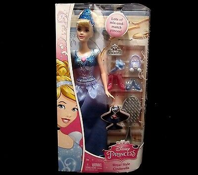 Disney Princess Royal Style Cinderella Doll with Accessories NEW