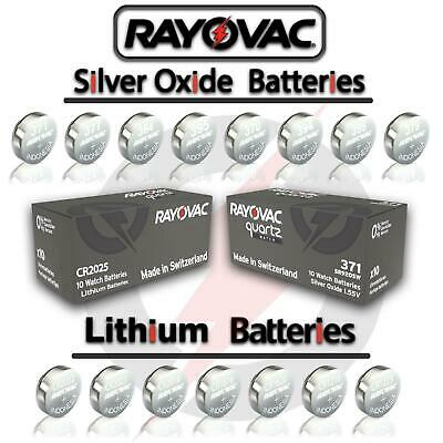 2X Rayovac Cell Battery Swiss Made Silver Oxide / Lithium Batteries [All Sizes]