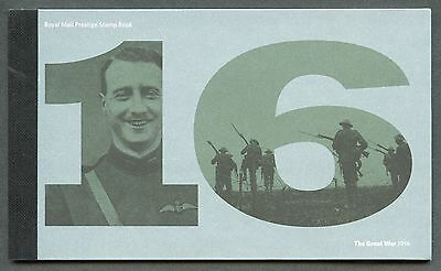 Great Britain 2016 World War I  Complete Prestige Booklet  Mint Never Hinged