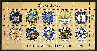 Marshall Islands 2016 Great Seals Of The United States  Sheet Ii  Mint Nh