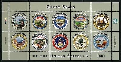 Marshall Islands 2016 Great Seals Of The United States  Sheet Iv  Mint Nh
