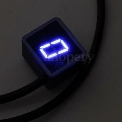 Indicatore Di Marcia 8 Marce Digitale Contamarce Gear Moto Luci Led Blu Nuovo