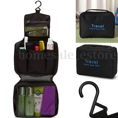 New Travel Waterproof Toiletry Wash Pouch Cosmetic Bag Makeup Case Hanging Bag