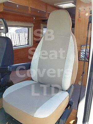 To Fit A Peugeot Boxer Motorhome, 2002, Seat Covers, Taffino Beige, 2 Fronts