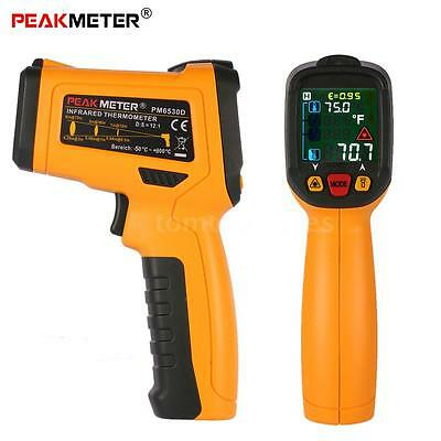 PEAKMETER Non-contact Digital Infrared IR Thermometer Adjustable Emissivity Y4M9