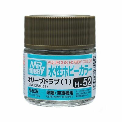 MR HOBBY GUNZE AQUEOUS COLOR ACRYLIC H52 Olive Drab (1) MODEL PAINT 10ml US