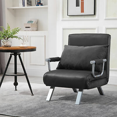 Homcom Convertible Sleeper Armchair Foldable Sofa Bed Lounge Couch W