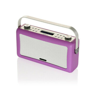 View Quest Hepburn DAB+ FM Radio Bluetooth Speaker Audio System With Aux Orchid