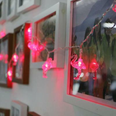 10-LED String Flamingo Fairy Lights Indoor Christmas Party Bedroom Lounge