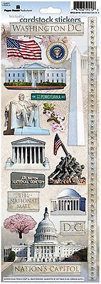 Paper House Washington Dc Travel Vacation Cardstock Scrapbook Stickers