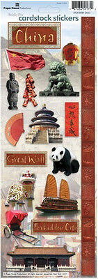 Paper House China Travel Vacation Cardstock Scrapbook Stickers