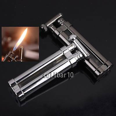 Portable Mini Cigarette Cigar Smoking Pipe Lighter With Cylinder Flint Wheel