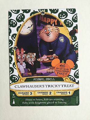 2016 Mickey's Halloween Party Sorcerers Of Magic Kingdom Clawhauser Card + Map