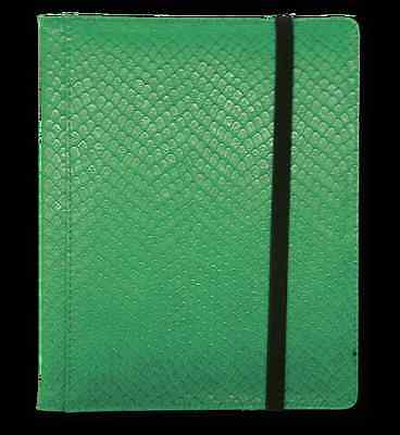 Dragon Hide 12 Pocket (3x4) Binder Green LGN BN12DHG