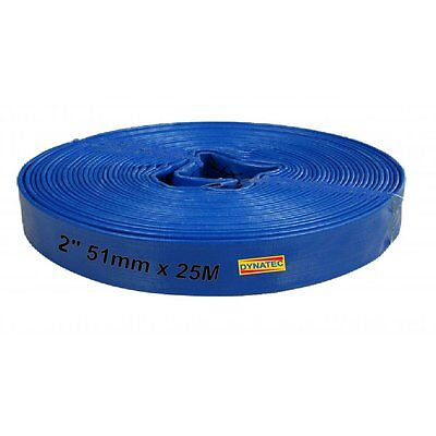 """2 """" Inch Layflat Discharge Water Pump Hose 50mm X 25 M Metre Drainage WR/H110X25"""