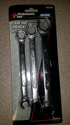 Wilmar Performance Tool 3 Piece Metric Flare Nut Wrench Set W350M