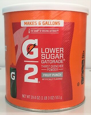 Gatorade G2 Thirst Quencher Instant Powder Fruit Punch Drink Mix 19.4 oz