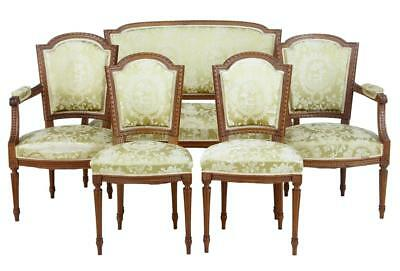 19Th Century French Walnut 5 Piece Salon Suite